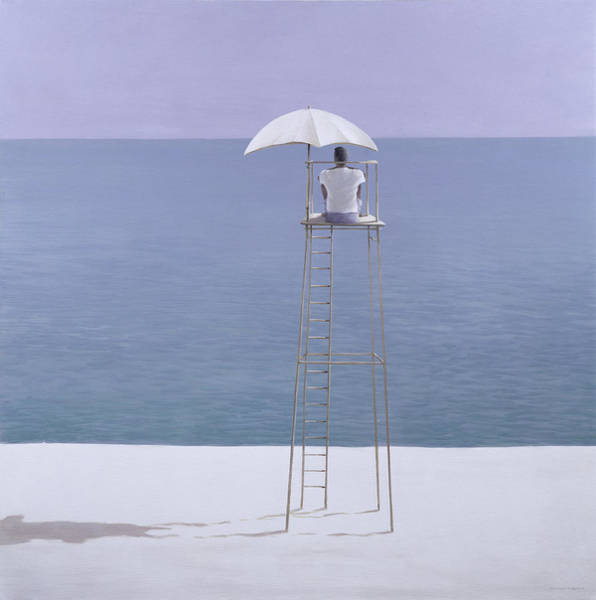 Guard Tower Wall Art - Painting - Beach Guard by Lincoln Seligman