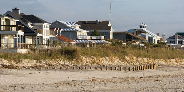 Photograph - Beach Homes At Murrells Inlet  by Ed Gleichman