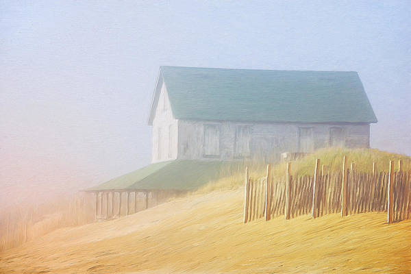 Snow Bank Painting - Beach House In Summer Fog by Dominic Piperata