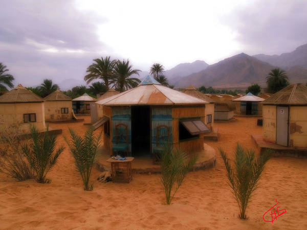Photograph - Beach Houses Nuweiba Sinai Egypt by Colette V Hera  Guggenheim