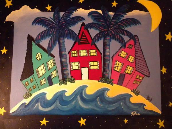 Rhea Painting - Beach Houses by Rhea Witthoft