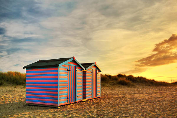 Photograph - Beach Hut Sunrise by Paul Cowan