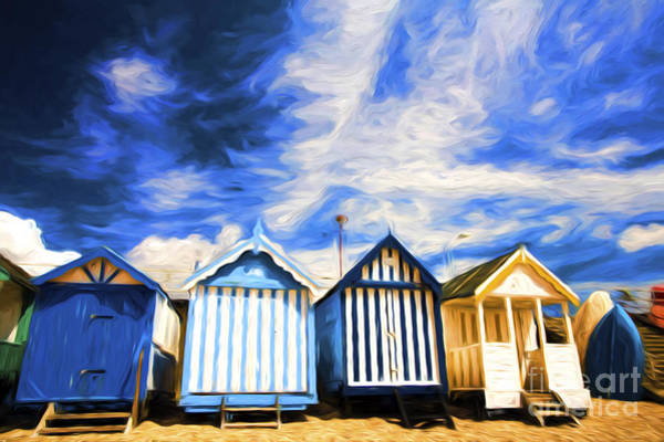 Southend Photograph - Beach Huts At Southend by Sheila Smart Fine Art Photography