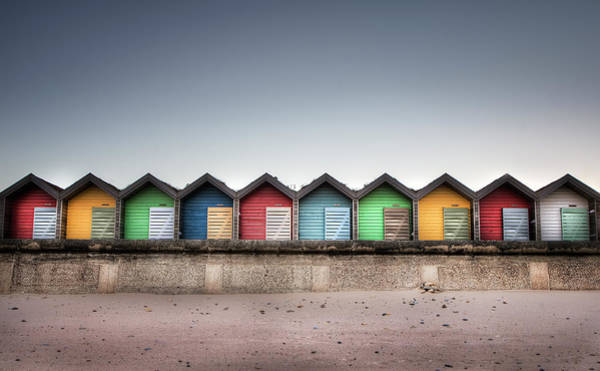 Newcastle Upon Tyne Photograph - Beach Huts In Colour by Jimmy Mcintyre
