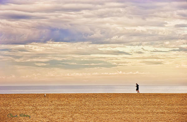 Photograph - Beach Jogger by Chuck Staley