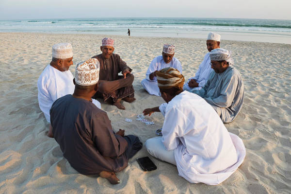 Headwear Photograph - Beach Life, Oman by Franz Aberham