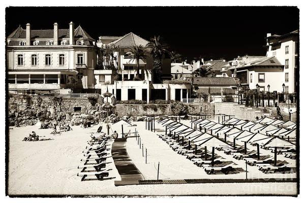 Wall Art - Photograph - Beach Lounges In Cascais by John Rizzuto