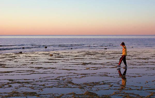 Photograph - Beach Mirror Walk by Dave Dilli