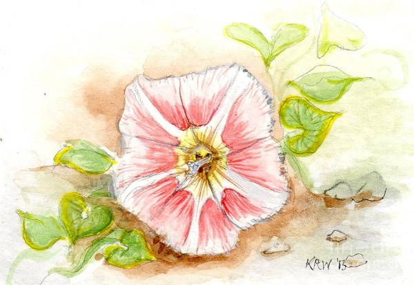Pink Champagne Painting - Beach Morning Glory by Kelly Walston