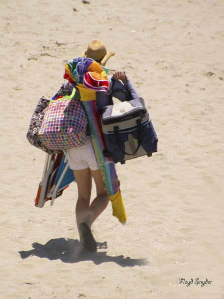 Photograph - Beach Mule Aka Dad by Floyd Snyder