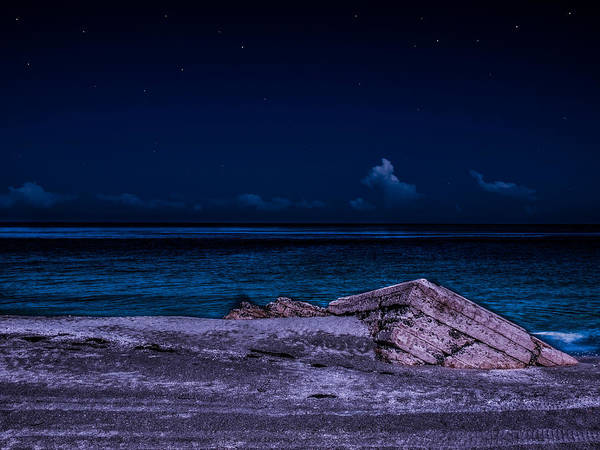 Photograph - Beach Night by Randy Sylvia