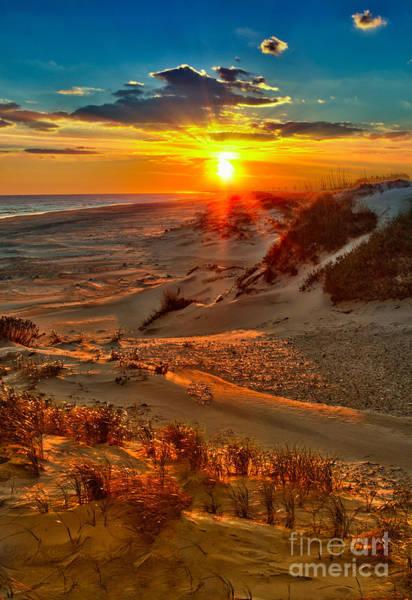 Wall Art - Photograph - Beach On Fire - Outer Banks by Dan Carmichael