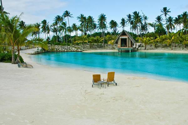 Photograph - Beach On Lagoon In Bora Bora by Gary Slawsky