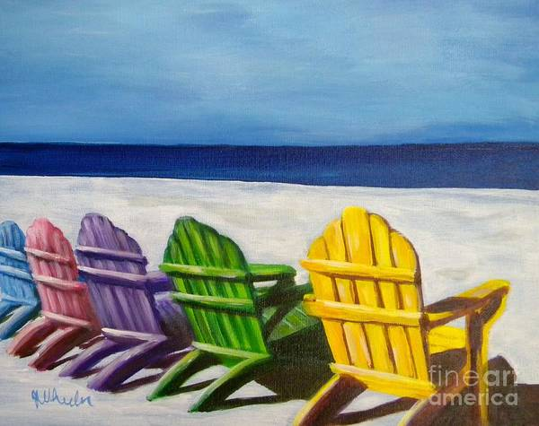 Wall Art - Painting - Beach Palette by JoAnn Wheeler