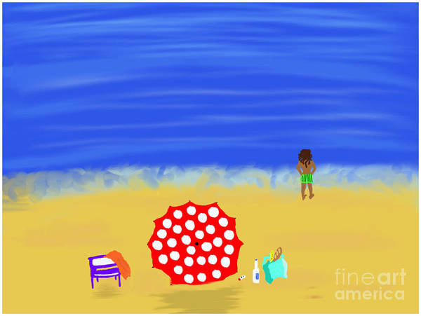 Painting - Beach Paradise by Barefoot Bodeez Art