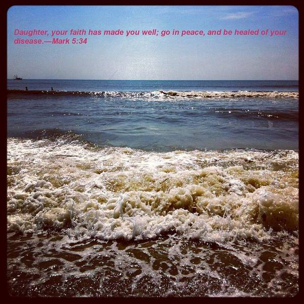 Photograph - Beach Picture With Quote by Marian Palucci-Lonzetta