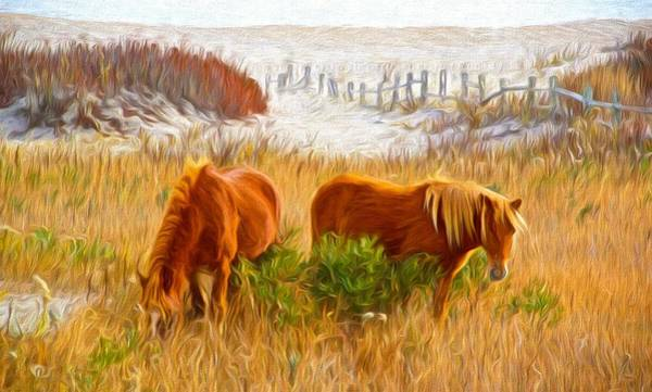 Photograph - Beach Ponies by Alice Gipson