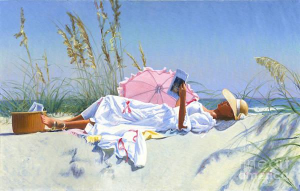 Wall Art - Painting - Beach Recliner by Candace Lovely