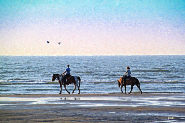 Painting - Beach Ride Equ456018 by Dean Wittle