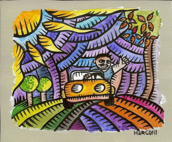 Beach Road Art Print