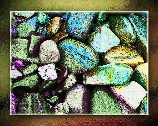 Bar Harbor Digital Art - Beach Rocks - Bar Harbor by Monzo Rock
