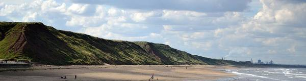 Beach - Saltburn Hills - Uk Art Print