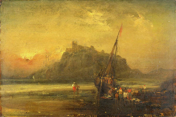 Wall Art - Painting - Beach Scene, Attributed To John Sell Cotman by Litz Collection