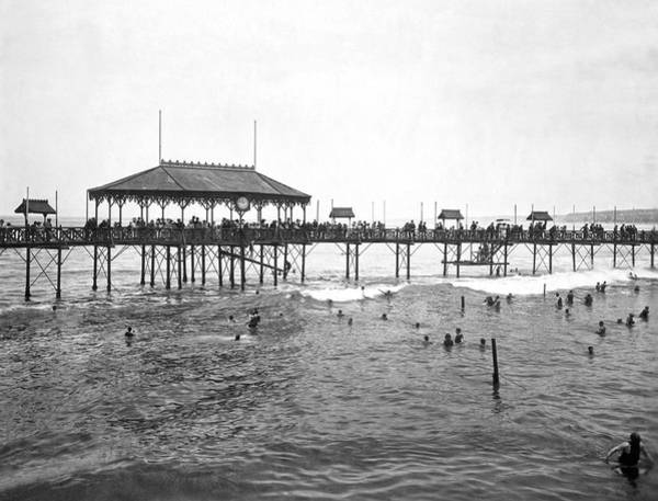 Peru Photograph - Beach Scene In Lima by Underwood Archives