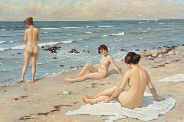 Painting - Beach Scenery, C1920 by Granger
