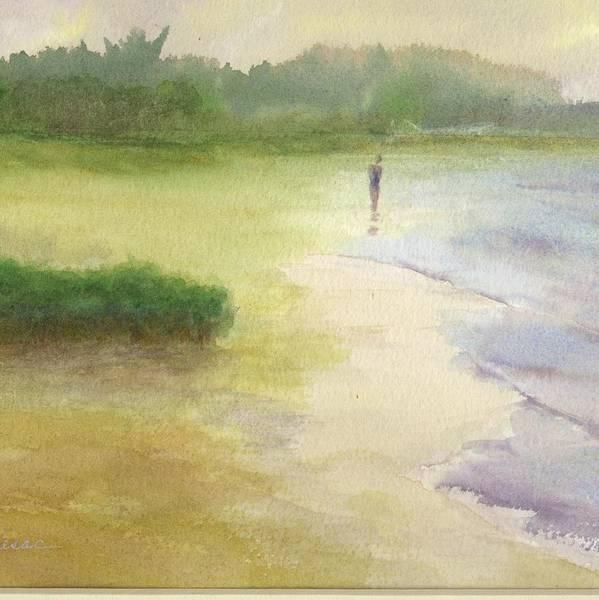 Painting - Beach Solitude by Peter Senesac