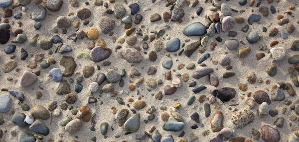 Photograph - Sand And Beach Stones by Charles Harden