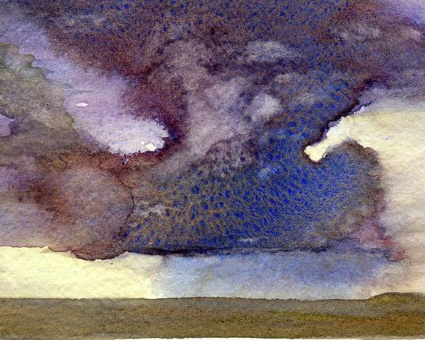 Painting - Beach Storm Cloud by Peter Senesac