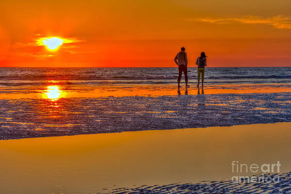 Happiness Photograph - Beach Stroll by Marvin Spates