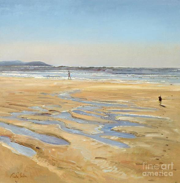 Stroll Painting - Beach Strollers  by Timothy  Easton