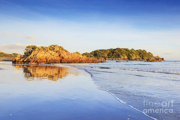 Low Tides Photograph - Beach Sunrise Mount Maunganui New Zealand by Colin and Linda McKie