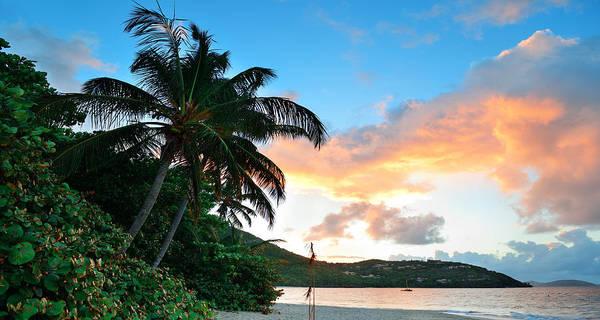 Photograph - Beach Sunset Panorama by Songquan Deng