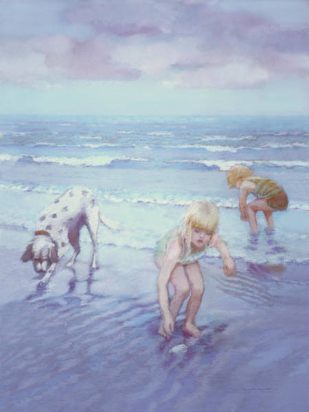 Painting - Beach Threesome by J Reifsnyder