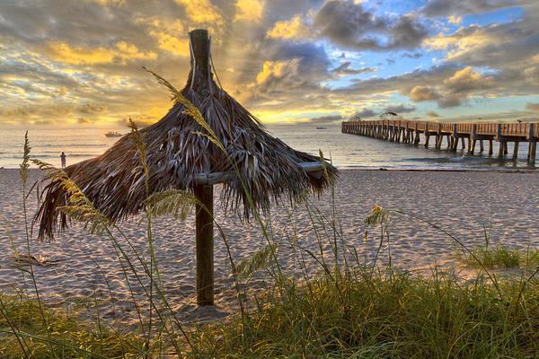 Hobe Sound Photograph - Beach Umbrella by Debra and Dave Vanderlaan