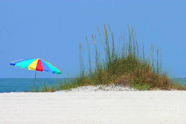 Photograph - Beach Umbrella - Digital Painting by Carol Groenen