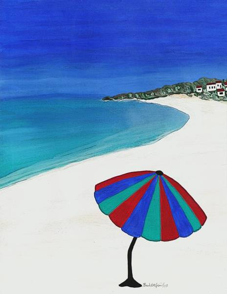 Painting - Beach Umbrella Dreaming by Barbara St Jean