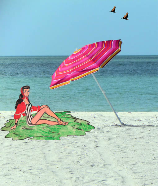 Beach Vacation Art Print by Rosalie Scanlon