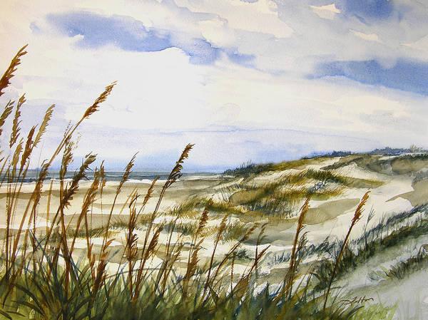Beach Watercolor 3-19-12 Julianne Felton Art Print