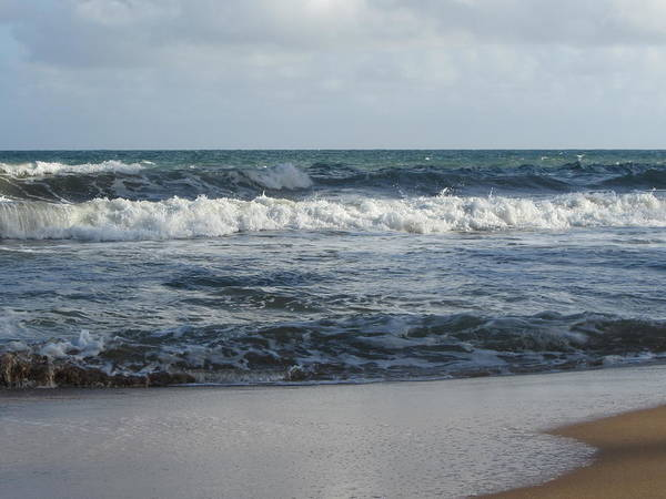 Photograph - Beach Waves 2 by Anita Burgermeister