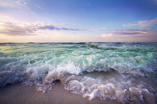 Destin Photograph - Beach Waves by Malcolm Macgregor