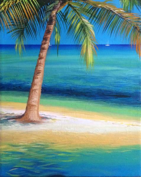 Wall Art - Painting - Florida Keys Water Reflection by Robert Korhonen
