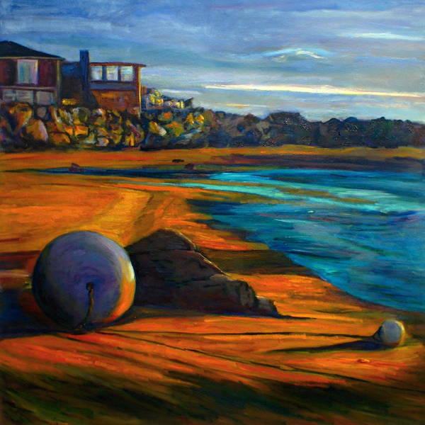 Beached Anchor Balls Art Print