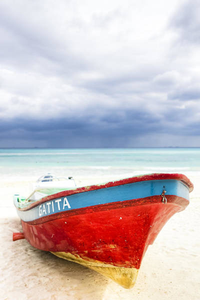 Photograph - Beached Beyond The Storm - Riviera Maya by Mark E Tisdale
