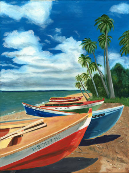 Painting - Beached Boats by Jill Ciccone Pike