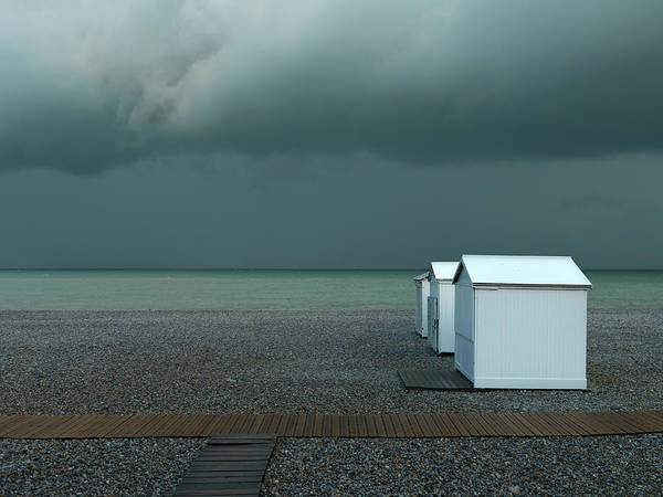 Cloudy Photograph - Beachhouses by Elisabeth Wehrmann