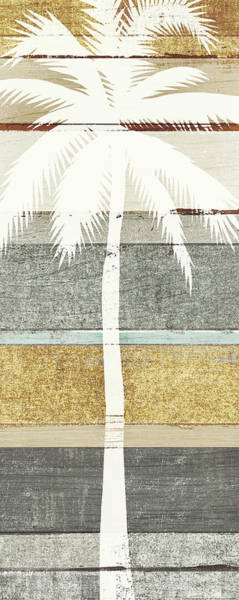 Neutral Painting - Beachscape Palms V Gold Neutral by Michael Mullan